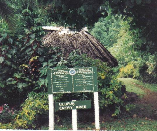 Enter gate to  Mt.Vaea Upolu Samoa