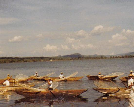 Butterfly fisherman Lake Patzcuaro Mexico