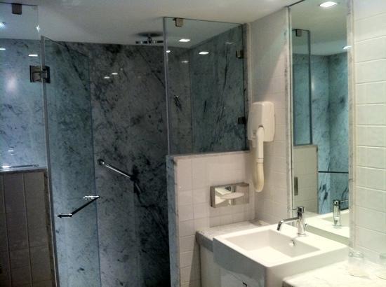 ألكسندر تل أبيب هوتل: seperate shower in bathroom