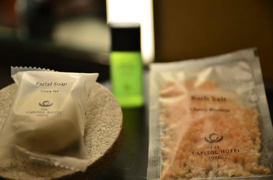 The Capitol Hotel Tokyu: green tea facial soap and bath