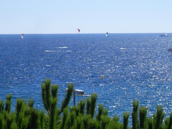la vue de la mer à cannes depuis chez nous