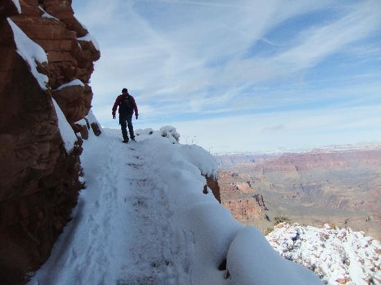 Phantom Ranch: hiking up the kaibab trail