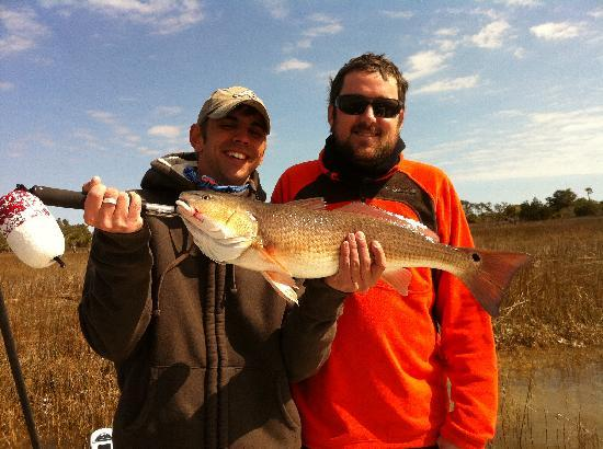 Pawleys Island, SC: Great day on the water, lil 9lb Red