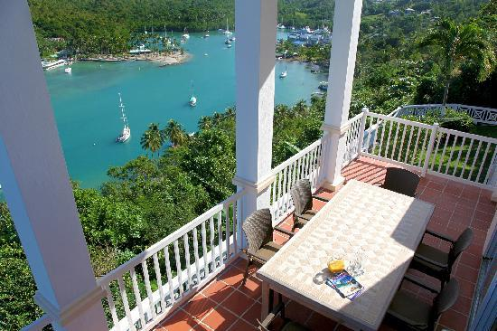 Oasis Marigot: Towering, all-seeing balcony at Great House