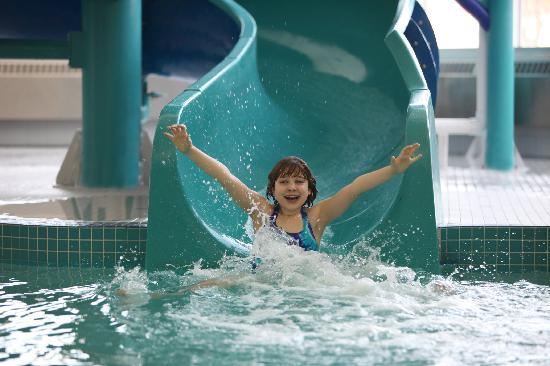 St Albert Inn and Suites: Enjoy our Salt water pool, Slide & Whirlpool, open daily at 6:00AM