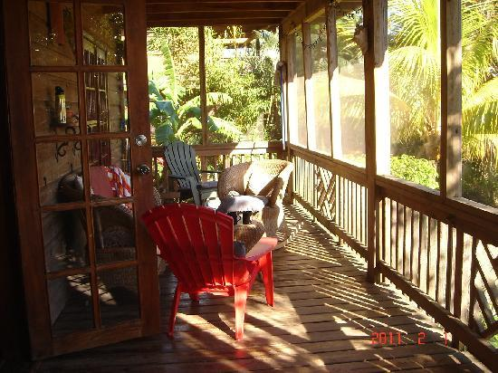 Sundancer Cabanas Roatan Beach Front: were we like to sit