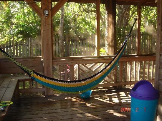 Sundancer Cabanas Roatan Beach Front: the girls favorite place to sit