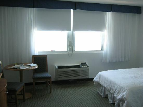 San Juan Beach Hotel : view of windows overlooking the ocean