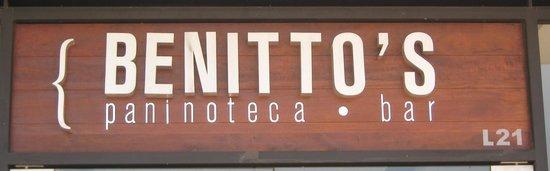 Benitto's Paninoteca Bar : Sign