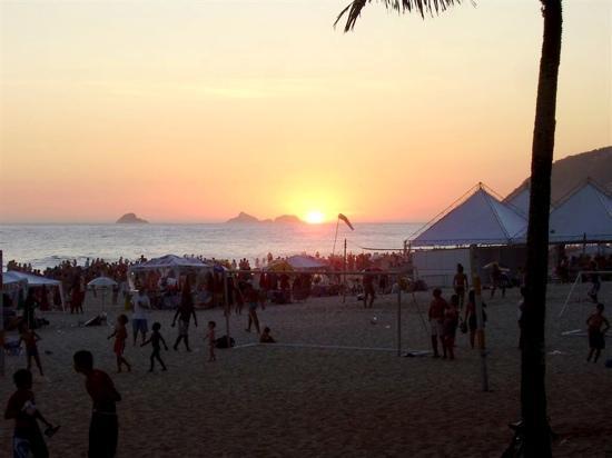Ipanema Beach: atardecer