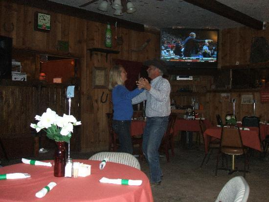 Triangle T Guest Ranch: Owners Don & Linda two-steppin' at the Saloon!
