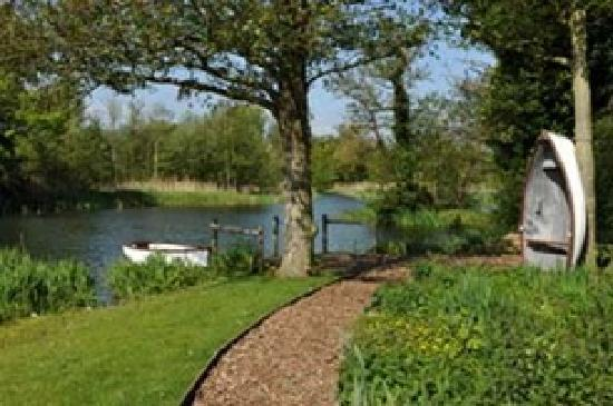Gardens overlooking The Meare