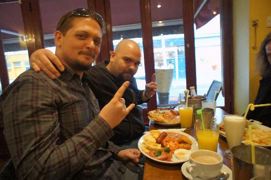 "Mike's Cafe: Friends from Turkey - I believe they ordered the ""Big Mike Breakfast"" - which was huge"