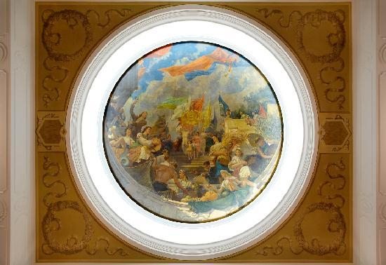 "Radisson Royal Hotel Moscow: The original plafond ""The Labor and Harvest Day in hospitable Ukraine"""