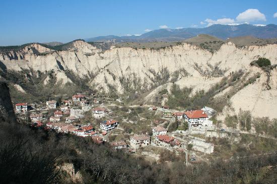 House Pri Stamena: Blick über Melnik