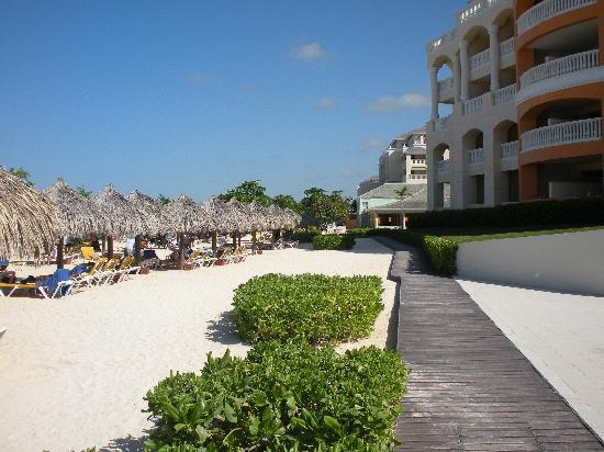 Iberostar Rose Hall Suites: path to beach side buffet restaurant