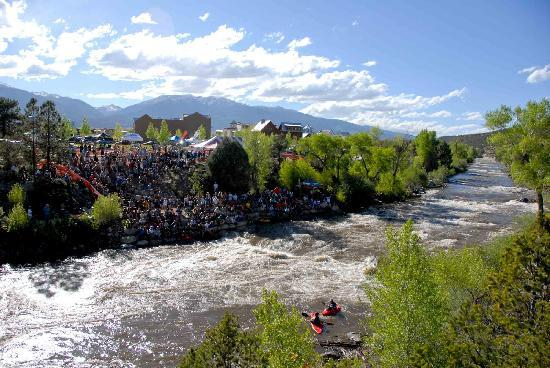 Buena Vista, CO : A view of the river park during Paddle Fest