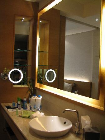 The washroom counter