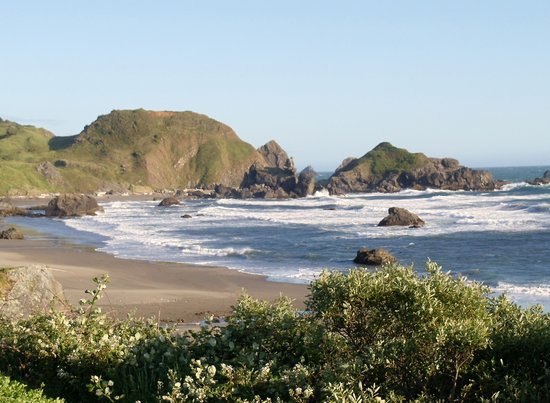 Brookings, OR: View from path to beach