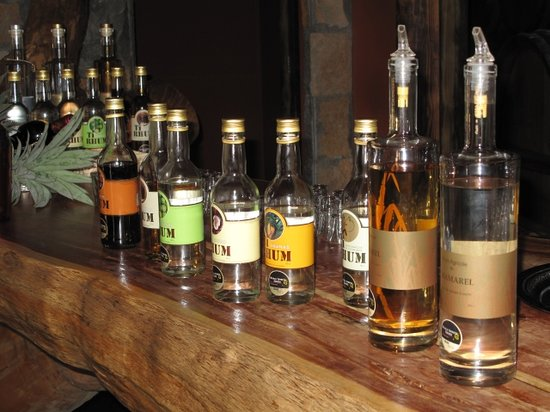 Chamarel: rum tasting selection