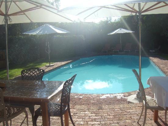 La Pension Guest House: terrasse mit pool