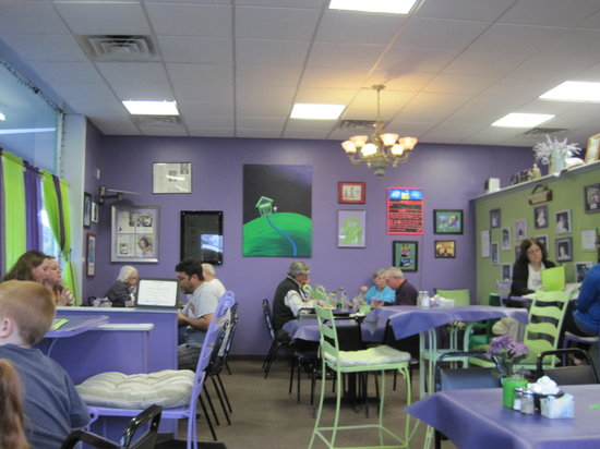 Taylor Cuisine Cafe & Catering: Purple interior