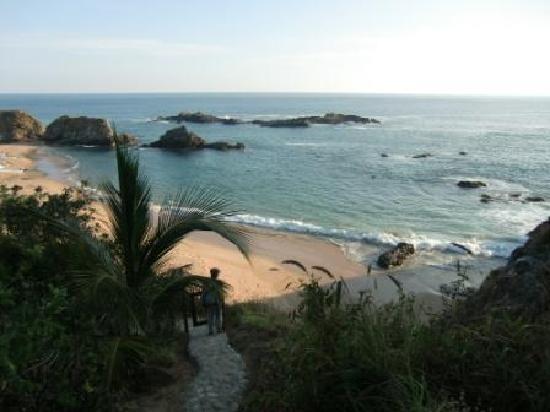Casa Pan de Miel: Treppenweg zum Strand