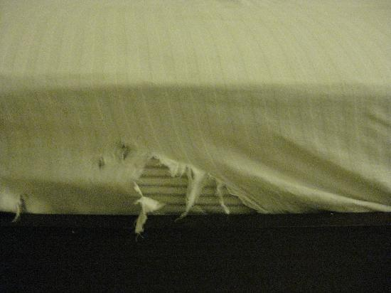 Hotel Impress: Ripped matress