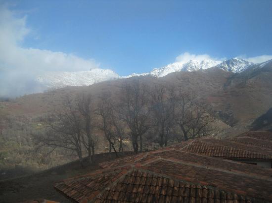 Hotel Nabia: Vista desde nuestra habitación (en los pocos minutos que no hubo niebla)