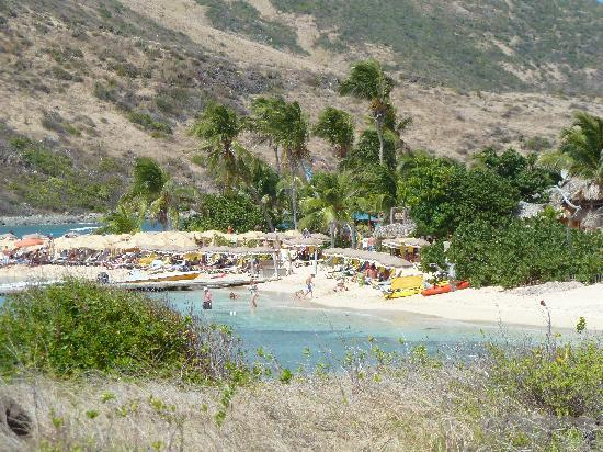 Eco-Snorkeling: Isle Pinel inland beach from the top of the island