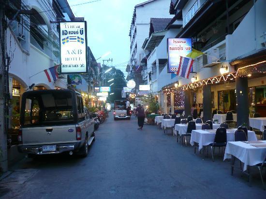 Thipurai Beach Hotel: street