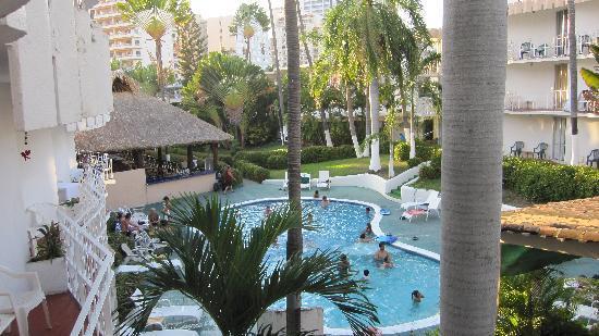 El Tropicano Acapulco : La magnifique vue sur le jardin intérieur :)