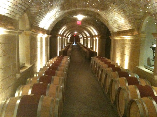HALL Rutherford: The wine caves at Hall Winery, Rutherford