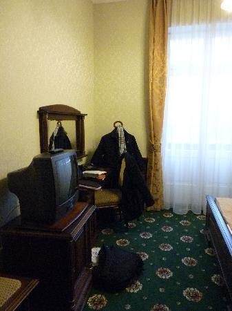 Hotel Eger & Park : Tv-and-minibar.