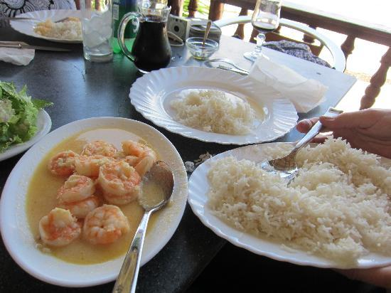 Anse Soleil Restaurant: Normal - large juicy prawns