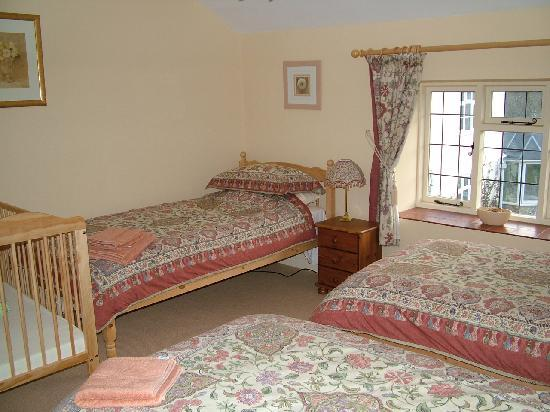 Field Farmhouse: Family room with 3 single beds