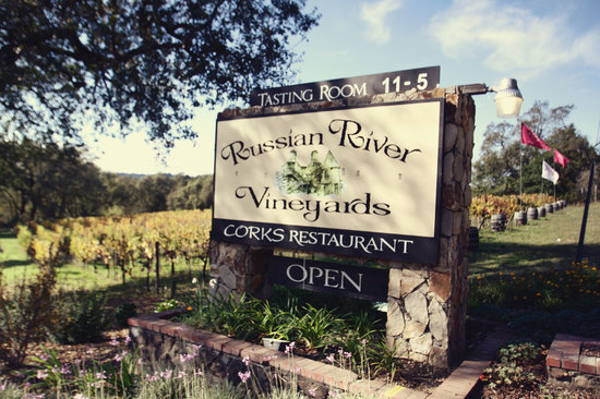 Russian River Vineyards Restaurant Farm & Tasting Lounge: Locate on the 116N