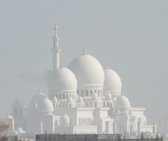 Sheikh Zayed Grand Mosque Center: View from the car