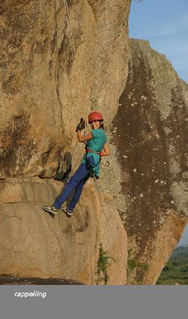 Camp Leopard Rock: Rappel time