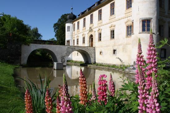 Chateau Trebesice: Il fossato del castello