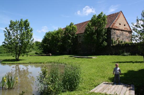 Chateau Trebesice: Il laghetto del castello