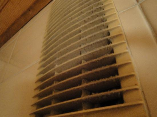 Chalet Le Boomerang: Filthy ventilation in the shower.