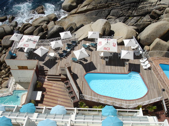 Bantry Bay International Vacation Resort: View of Pool Deck from Balcony