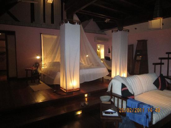 Sandoway Resort: chambre des Beach villas