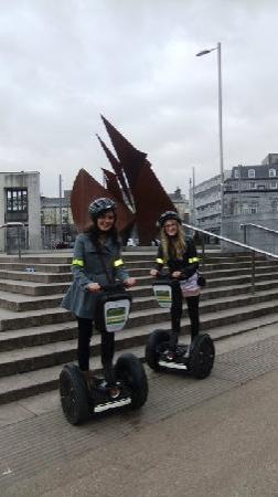Segway Adventures Ireland: Segwaying taking in the sights at Eyre Square