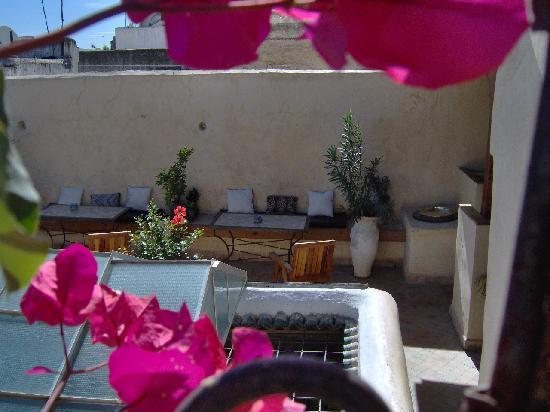 Riad Boujloud: Un coin de terrasse