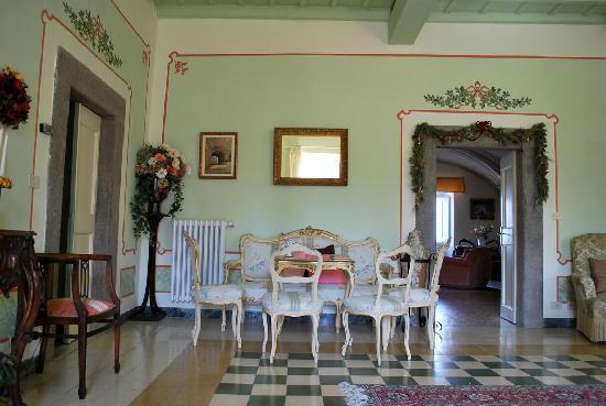 Villa Farinella: Salone verde