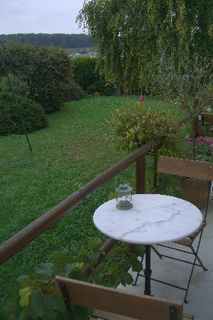 Les Grappes d'Or: Terrace and garden
