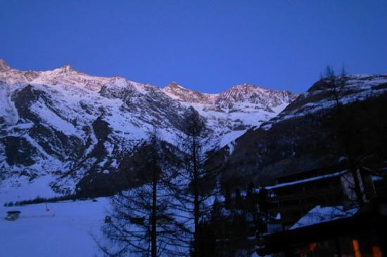 The view from Chalet Hotel Ambassador Saas Fee