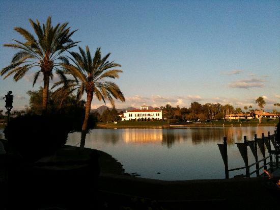 Pinon Grill: View across the lake